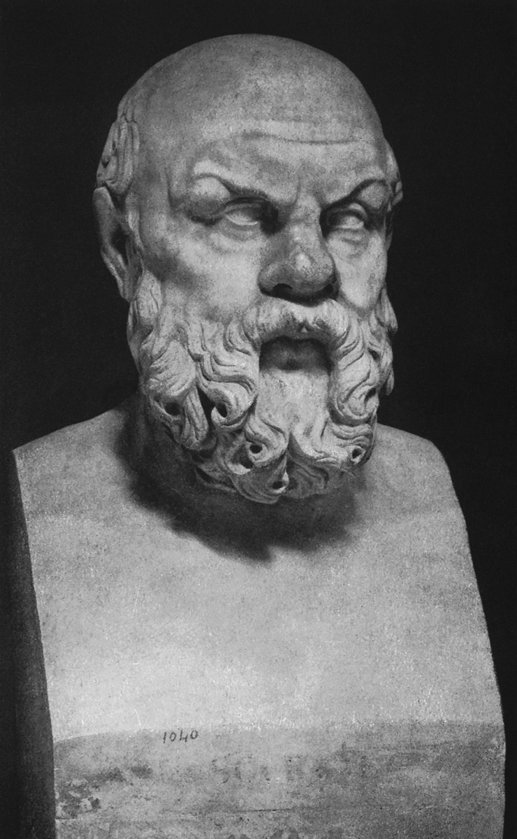 Term of Socrates. Marble. Inv. No. 1040. Rome, Villa Albani