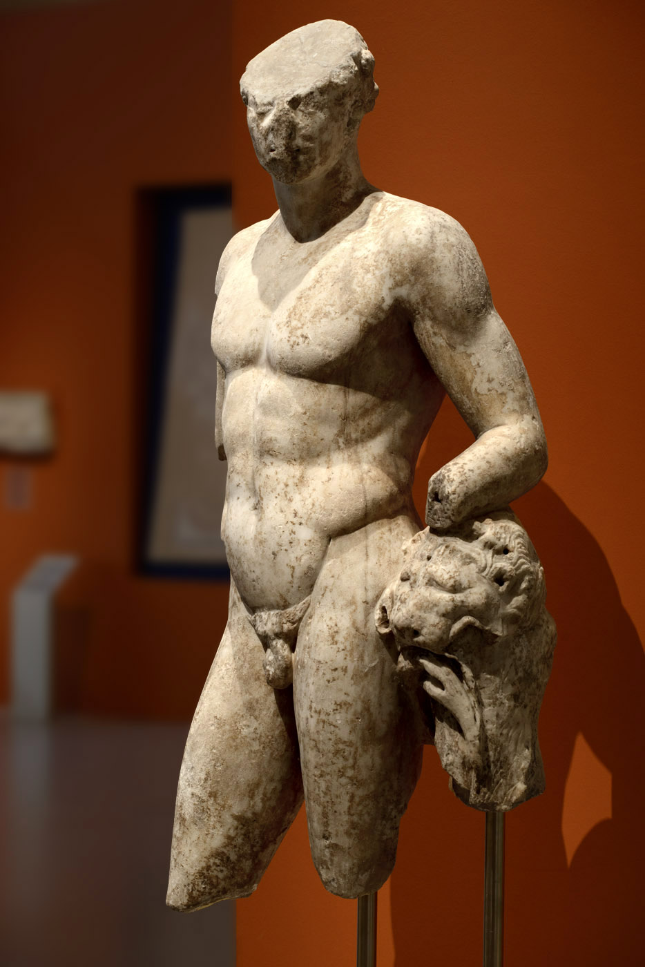 Statue of Heracles. Marble. Roman copy of the 1st cent. CE after a Greek original of the 4th cent. BCE. Patras, New Archaeological Museum