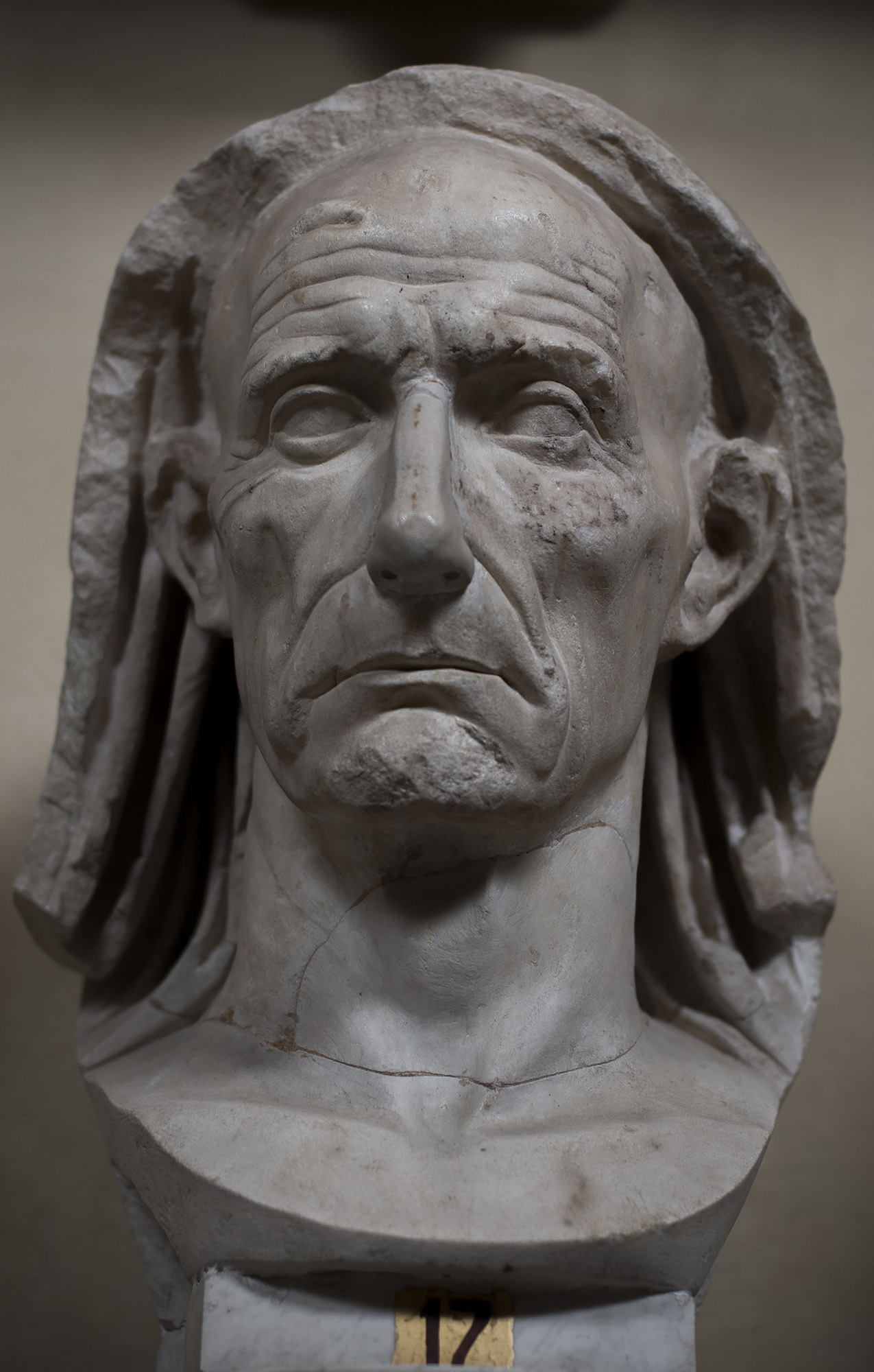 Portrait of an old man. Marble. First half of the 1st century BCE. Inv. No. 1751. Rome, Vatican Museums, Chiaramonti Museum, XXXV. 17