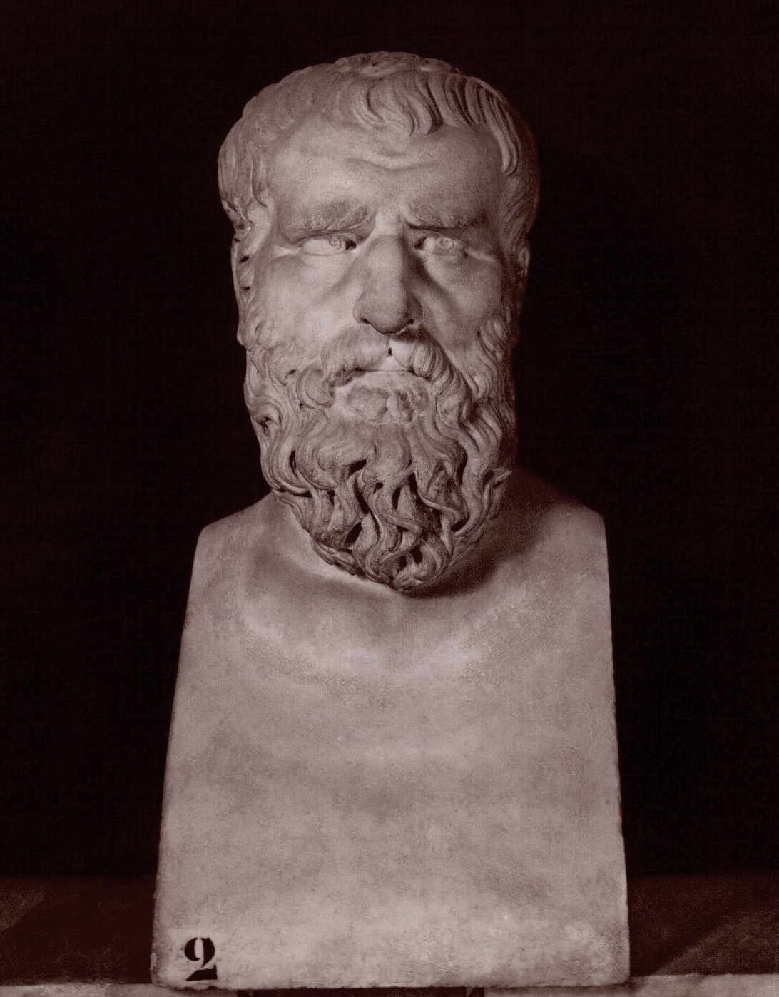 Herm of Heraclitus. Marble. Rome, Capitoline Museums, Palazzo Nuovo, Hall of the Philosophers