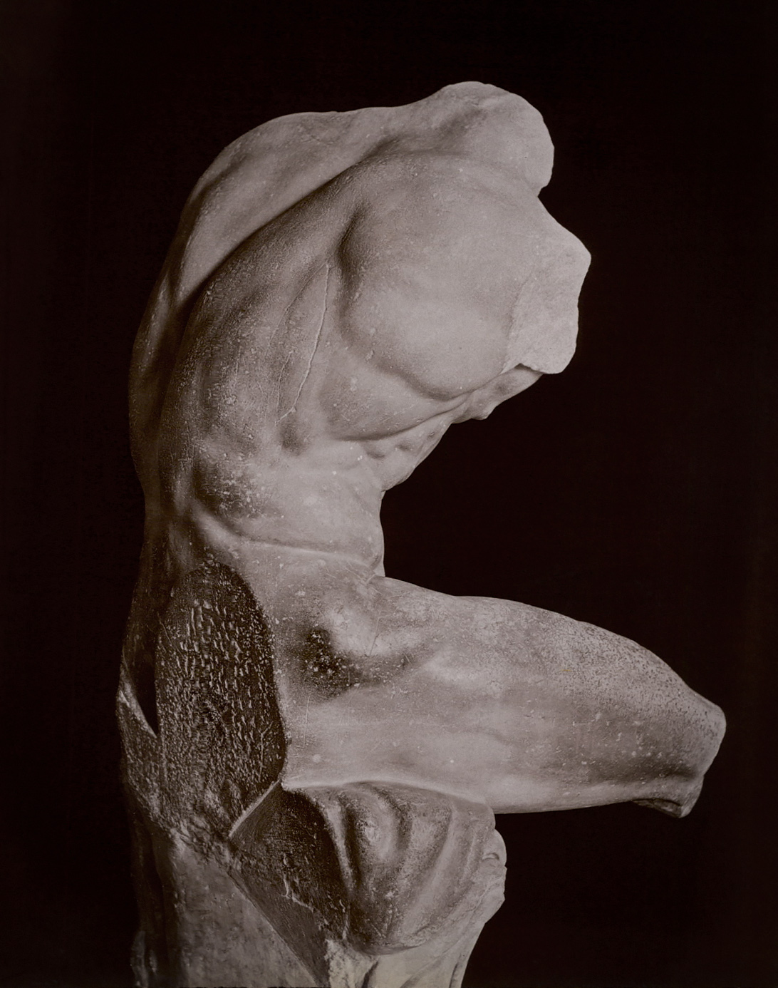 Torso, called Belvedere. Marble. Work by Apollonios Athenian, son of Nestor. Rome, Vatican Museums, Pius-Clementine Museum, Room of the Muses, 26