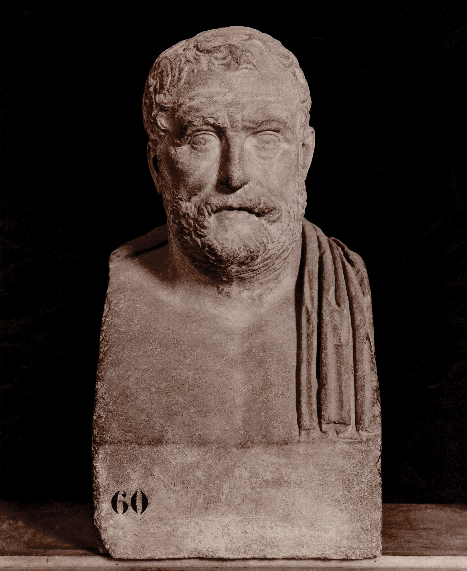 Herm of Thukydides. Marble. Rome, Capitoline Museums, Palazzo Nuovo, Hall of the Philosophers