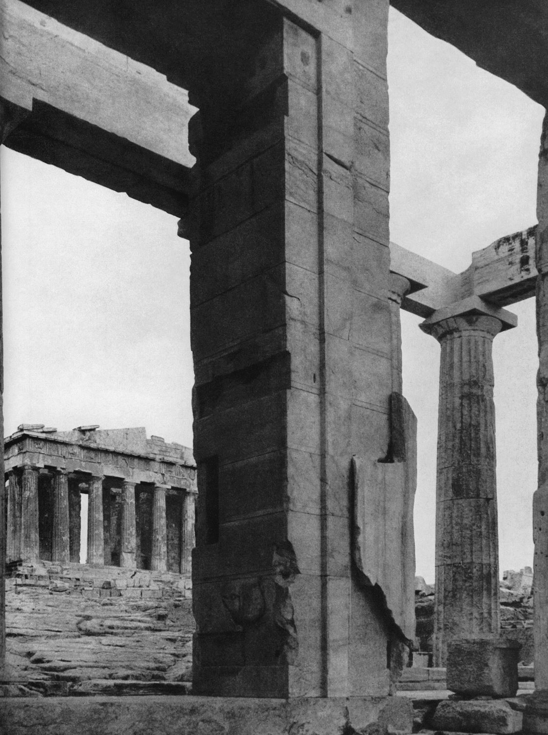 View of the Parthenon through the Propylaea. 447—438 BCE. Athens