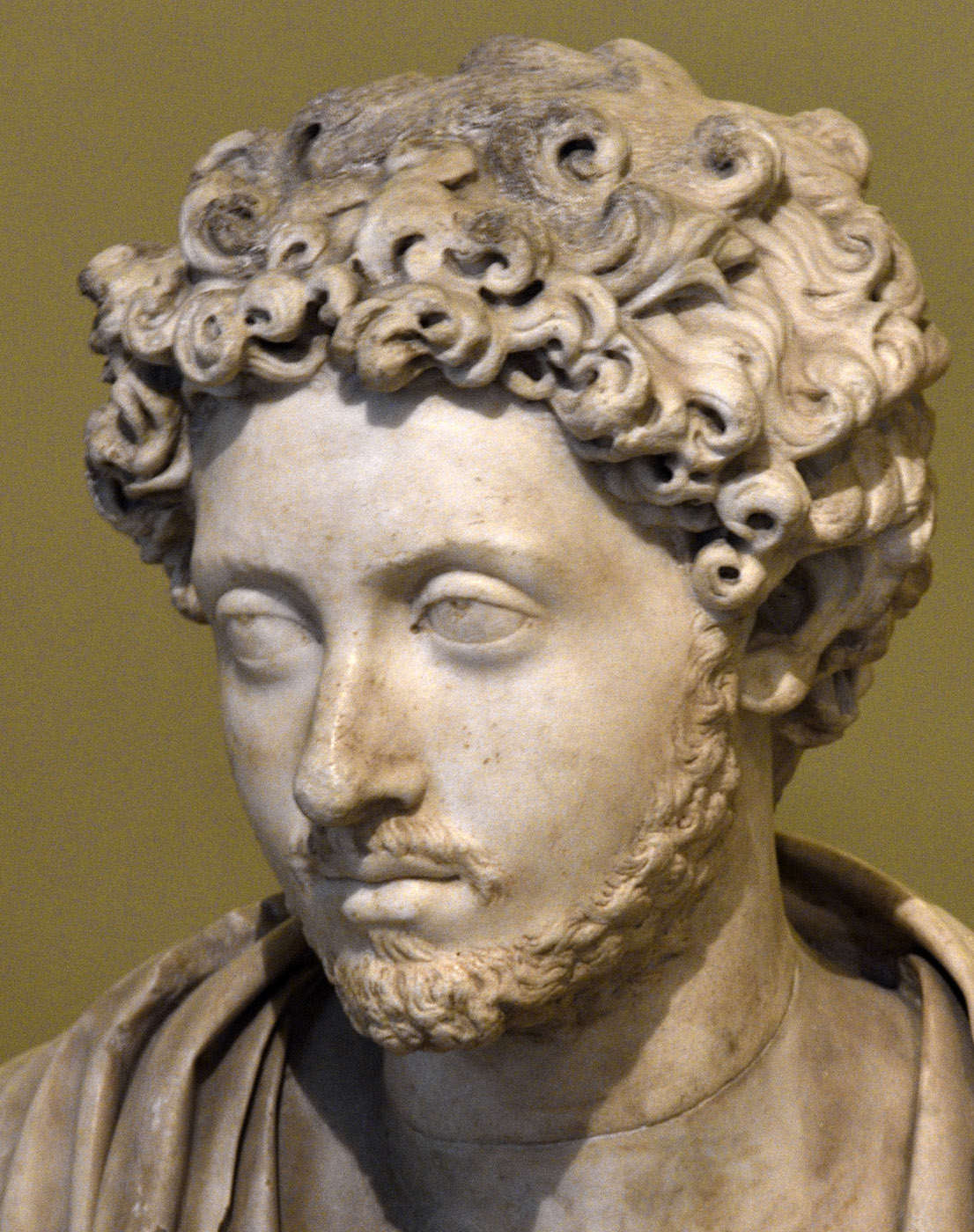 Portrait of young Marcus Aurelius. Marble. Mid-2nd cent. CE. Bust made in the Renaissance. Inv. No. 115. Venice, National Archaeological Museum