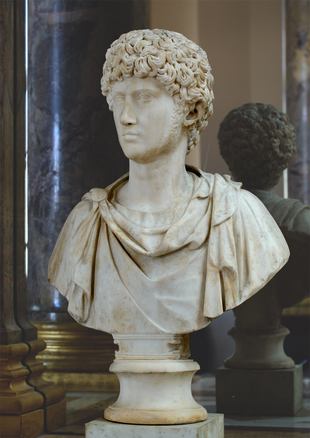 Lucius Verus as a young man. Marble. Ca. 150 CE. Inv. No. Ma 1136. Paris, Louvre Museum